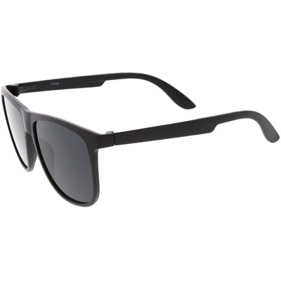 Men's Modern Flat Lens Horned Rim Aviator Sunglasses C690