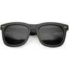 Oversize Wide Arm Metal Rivet Horn Rimmed Sunglasses C693