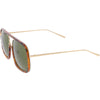 Oversize Luxury Women's Square Mirrored Lens Sunglasses C696