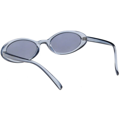 Small Retro 1990's Transparent Mirrored Lens Sunglasses C698