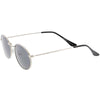 Retro Small 1990's Round Oval Metal Sunglasses C700