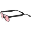 Retro 1990's Rectangle Color Tone Horned Rim Color Tone Sunglasses C701