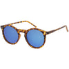 Retro Round Horned Rim Flash Mirrored Lens Sunglasses C703