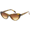Small 1990's Retro Rounded Cat Eye Flat Lens Sunglasses C706