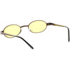 Retro 1990's Small Color Tone Oval Metal Sunglasses C709