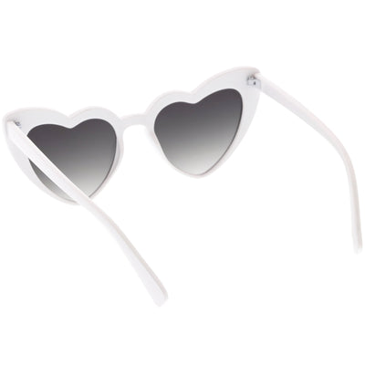 Women's Oversize Rhinestone Heart Shape Sunglasses C711