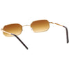 Retro Small 1990's Rectangle Flat Lens Metal Sunglasses C720