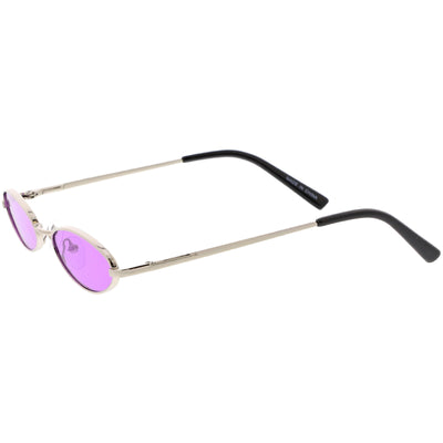 Slim Retro Throwback 1990's Color Tone Oval Sunglasses C722