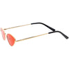 Retro 1990's Color Tone Metal Cat Eye Sunglasses C724