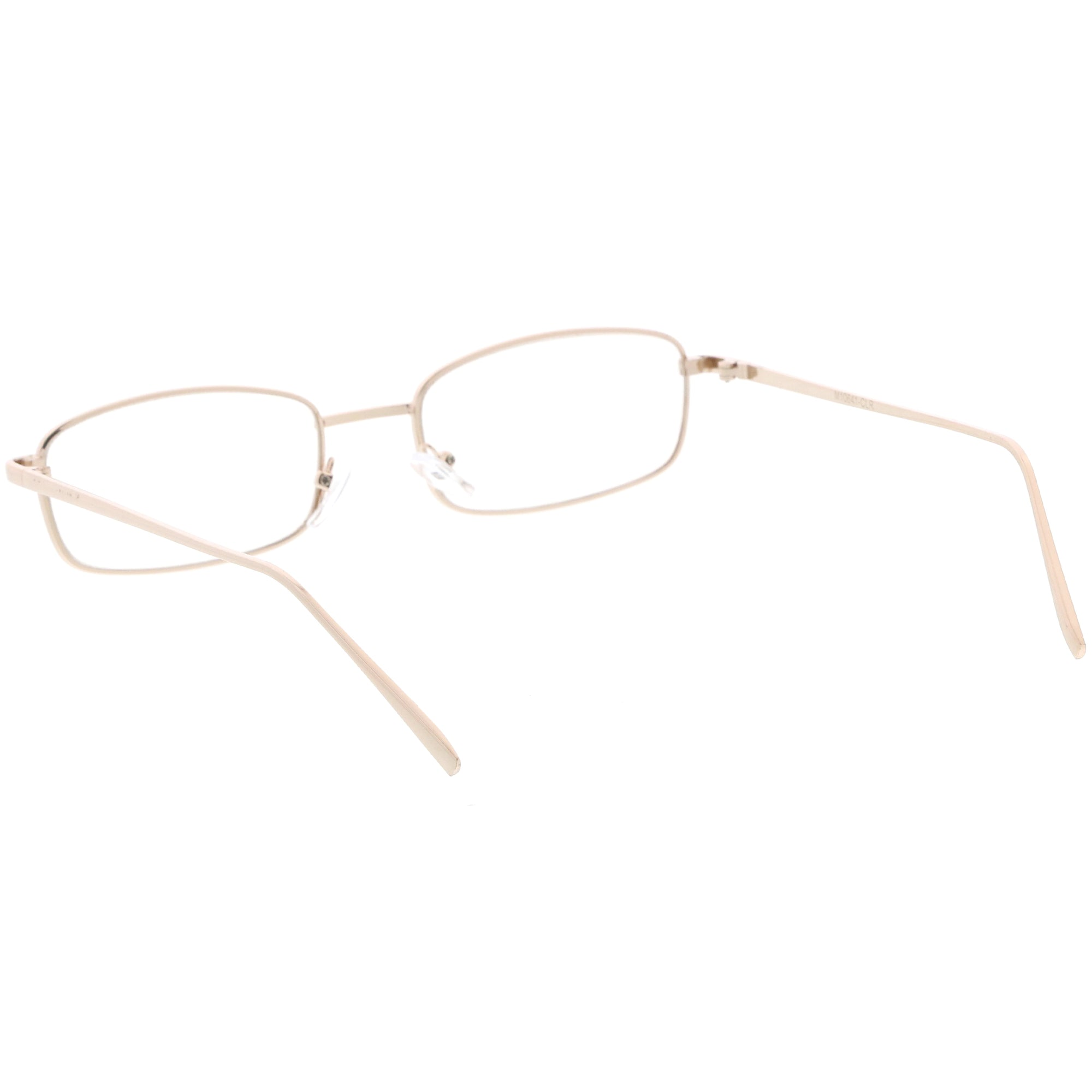 Men/'s or Women CLASSIC VINTAGE Style Clear Lens EYE GLASSES Silver Fashion Frame