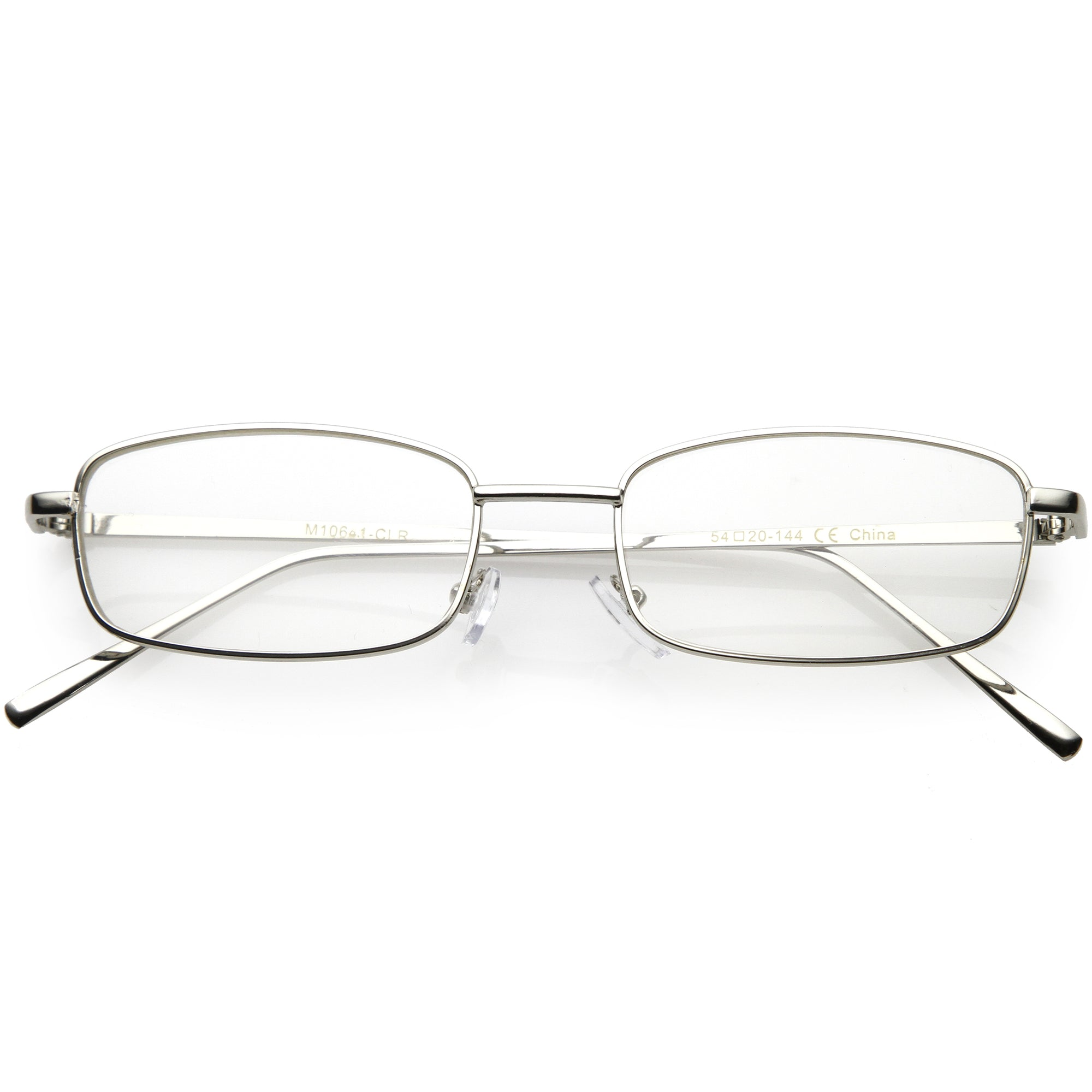 Classic Vintage Inspired Rectangle Flat Clear Lens Glasses C726
