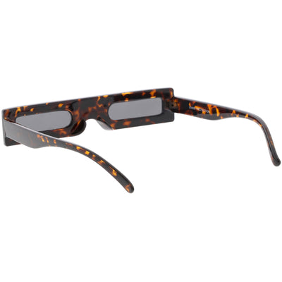 Novelty Retro Punk Square Flat Top Thin Lens Sunglasses C733