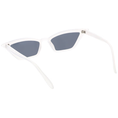 Retro Thin Neutral Colored Lens Cat Eye Sunglasses C734
