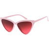 Women's Oversize High Tipped Color Tone Cat Eye Sunglasses C739