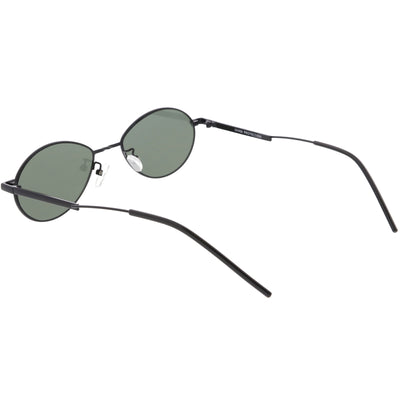 Classic Retro Unisex Metal Oval Dapper Sunglasses C741