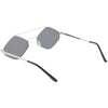 Retro Geometric Hexagon Diamond Shaped Flat Lens Sunglasses C744