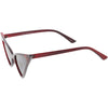 Women's Oversize Retro Modern High Pointed Cat Eye Sunglasses C745