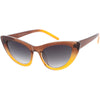 Women's Oversize Translucent Gradient Lens Cat Eye Sunglasses C749