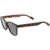 Retro Modern Horned Rim Flat Lens Sunglasses C753