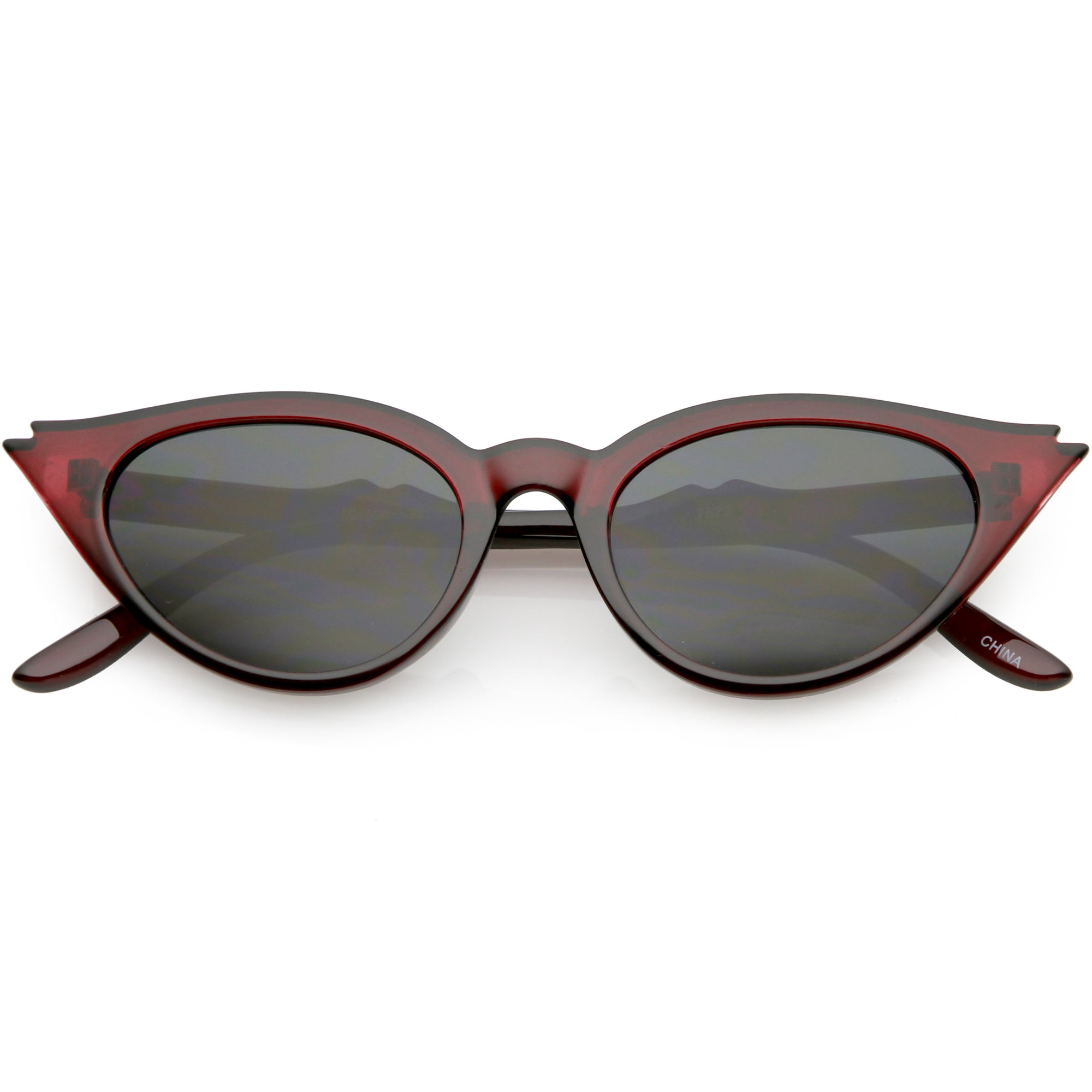 Women's Retro 1950's Notched Cat Eye Sunglasses C756
