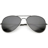 Large Classic Full Metal Tear Drop Aviator Sunglasses C760 60mm