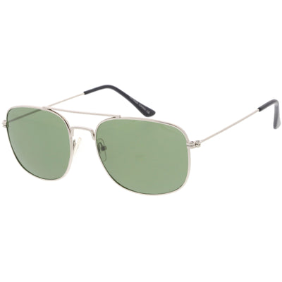 Retro Large Classic Square Metal Aviator Sunglasses C763