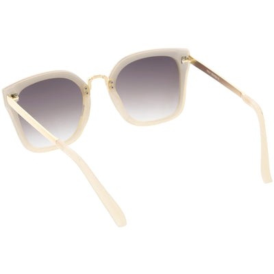 Women's Modern Oversize Metal Square Cat Eye Sunglasses C783