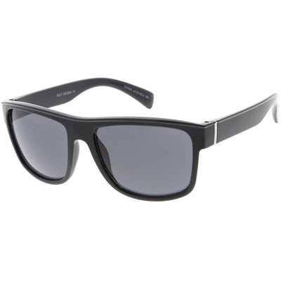 Men's Flat Top Action Sports Square Aviator Sunglasses C786