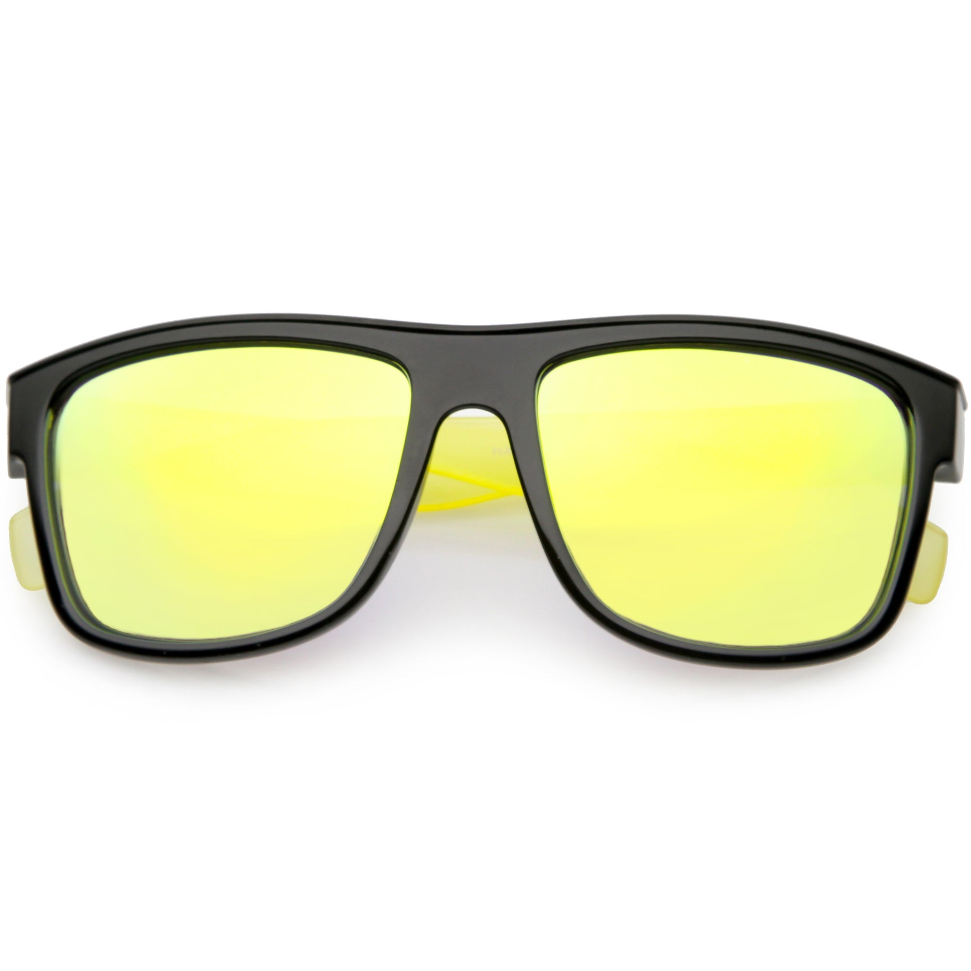 Radical Retro Skater Horned Rim Flash Mirrored Sunglasses C787