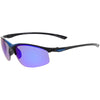 Men's Lightweight Half Frame Active Sports Wrap Around Sunglasses C788