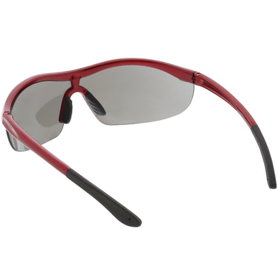 Premium TR-90 Sports Wrap Half Frame Shield Sunglasses C799 77mm