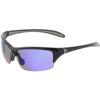 Semi Rimless Performance Sports TR-90 Mirrored Lens Sunglasses C808
