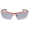 Sports Performance Ridged TR-90 Sports Wrap Rectangle Sunglasses C810