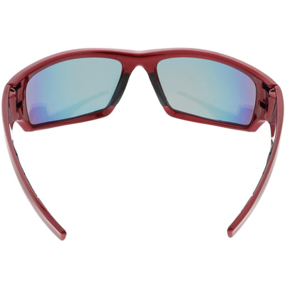 Action Sports TR-90 Sports Wrap Mirrored Lens Sunglasses C811