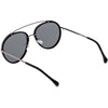 Round Dapper Tear Drop Polarized Mirrored Lens Aviator Sunglasses C825