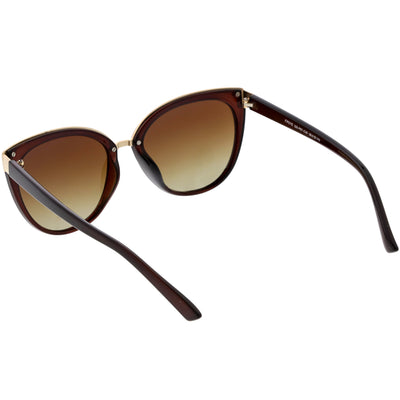 Women's Large Polarized Dual Layer Cat Eye Sunglasses C827