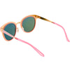 Women's Premium Horned Rim Mirrored Polarized Lens Sunglasses C830