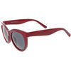 Women's Oversize Horned Rim Cat Eye Color Tone Sunglasses C837