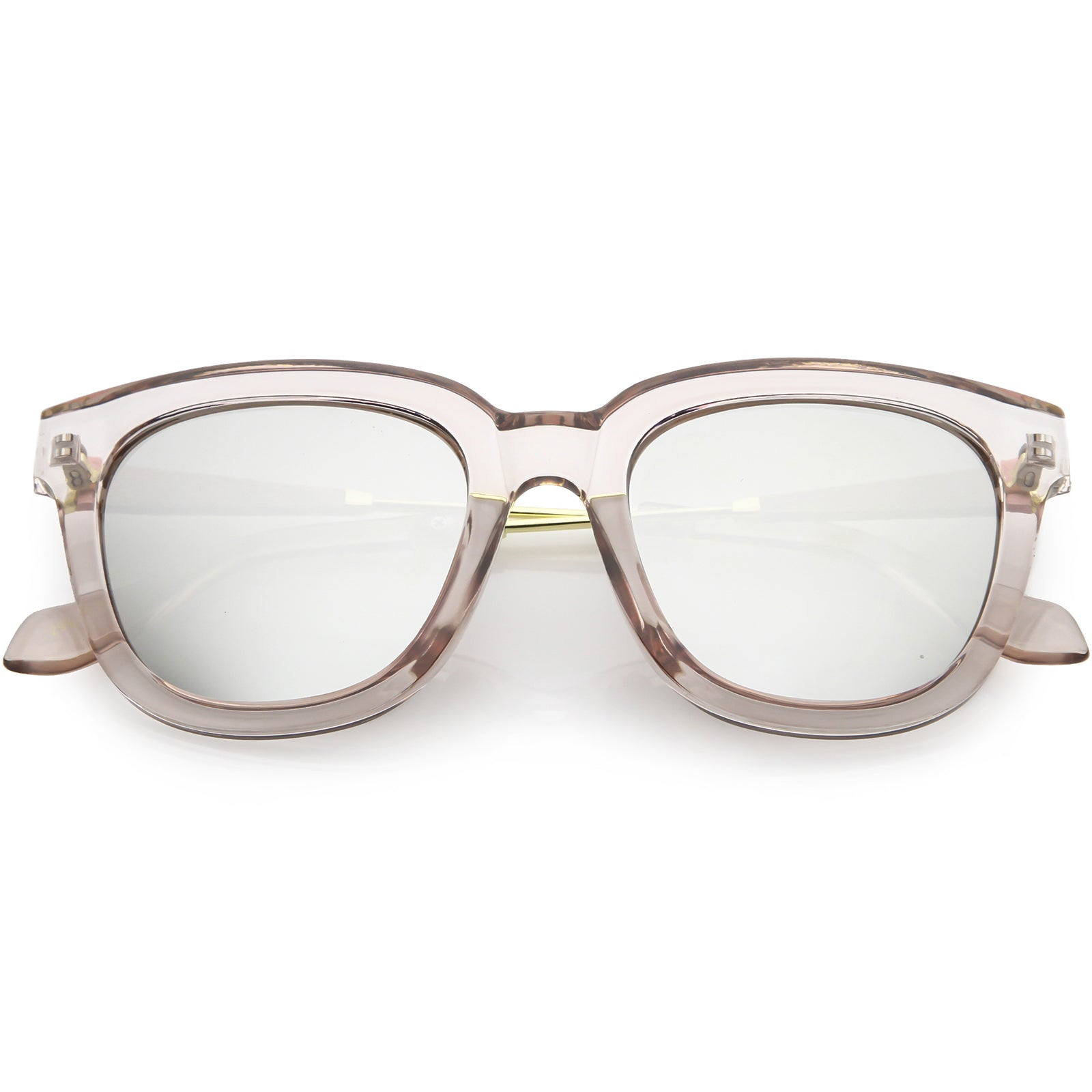 Women's Oversize Horned Rim Thick Square Sunglasses C843