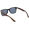 Unisex Outdoors Hiking Wood Print Horned Rim Sunglasses C845