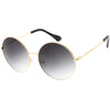 Retro Oversize Color Tone Disco Round Metal Sunglasses C848