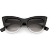 Women's Oversize Wide High Tip Rivets Cat Eye Sunglasses C851