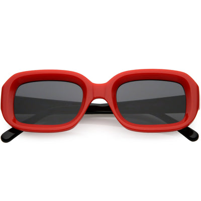 Retro Chunky Wide Arms Square Lens Square Sunglasses C866