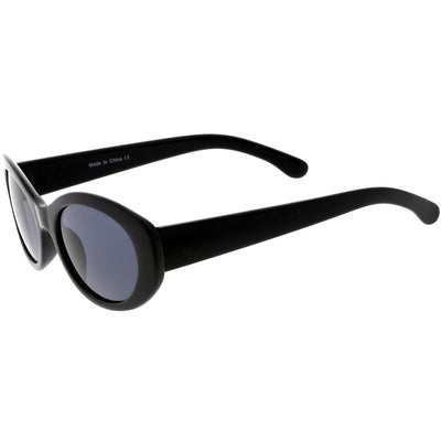 Women's Retro Oval Clout Thick Frame Sunglasses C867