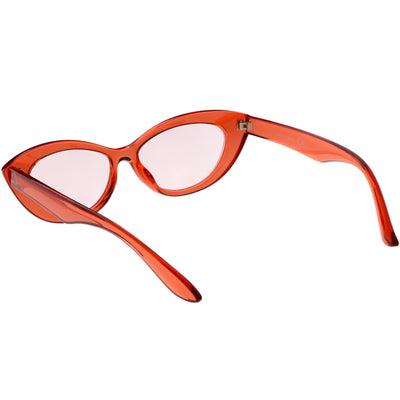 Women's Retro Oval Color Tone Cat Eye Sunglasses C868