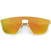 Disco Retro Modern Mirrored Flat Lens Metal Sunglasses C870