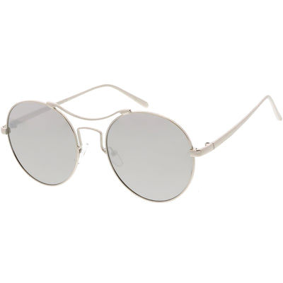 Vintage Inspired Round Spectacle Steampunk Metal Sunglasses C873