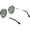 Chic Luxe Metal Crossbar Polarized Lens Round Sunglasses C881