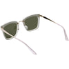Women's Premium Flat Infinity Mirrored Polarized Lens Sunglasses C882