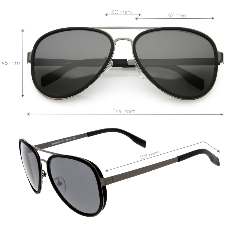 Retro Modern Polarized Premium Thin Aviator Sunglasses C885